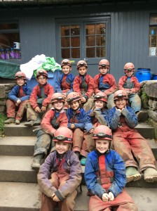 After caving - we survived!